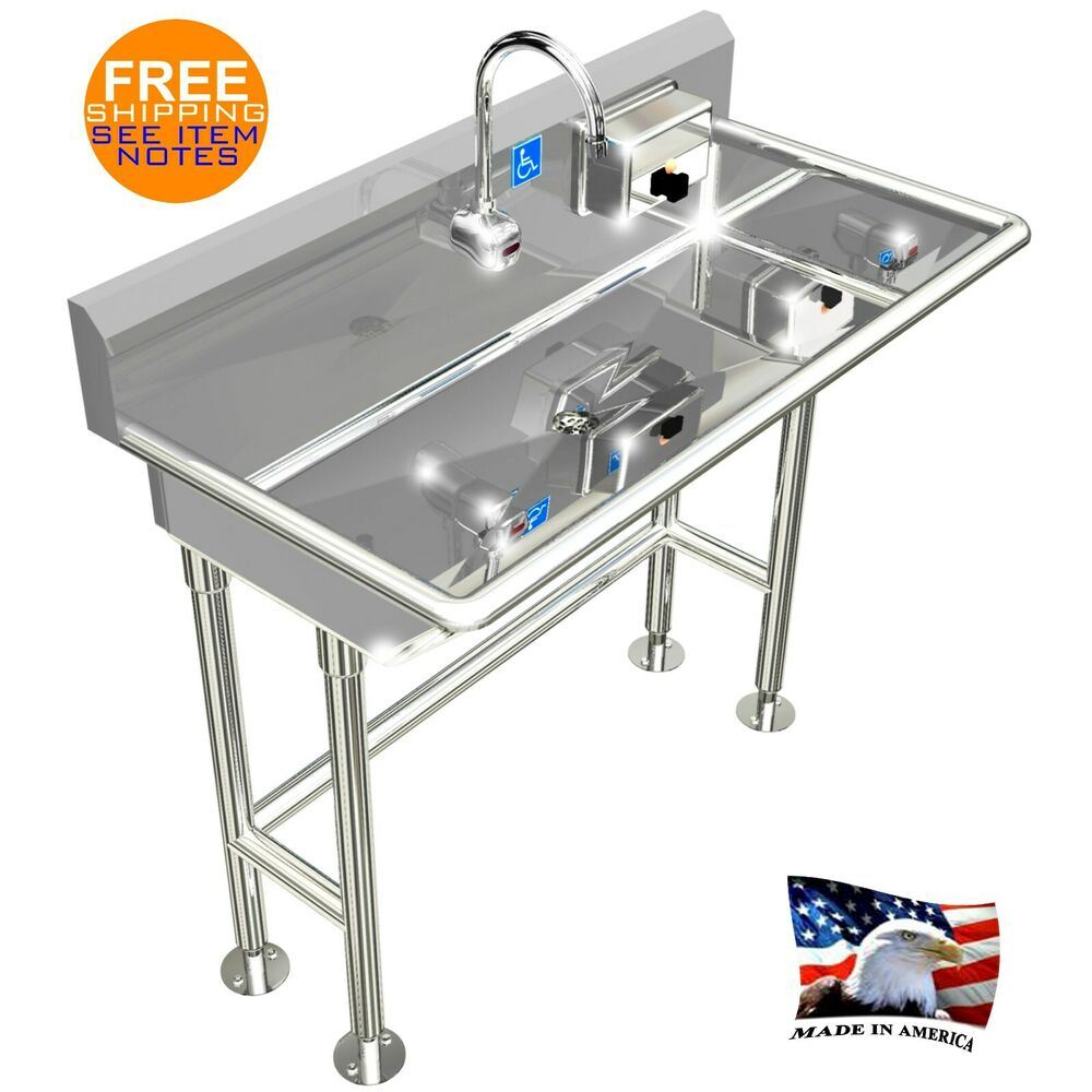 Ada Hand Wash Sink 1 Station 40 Quot Electronic Faucet Free