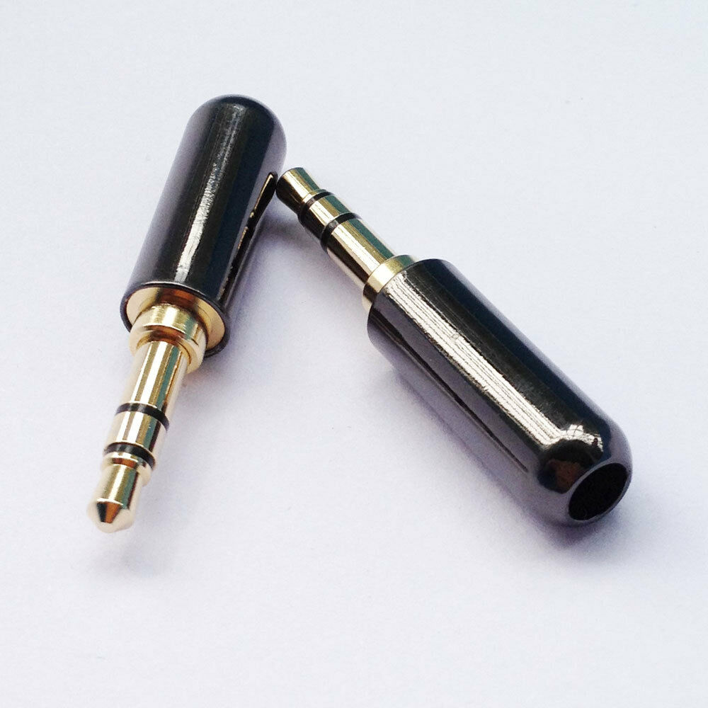 3 5mm 3 Pole Male Repair Headphone Jack Plug Metal Audio
