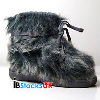 Infant Girls Boys Ankle Fur Boots Cute Kids Shoes Size 4 5 6 7 8 9  Honey New
