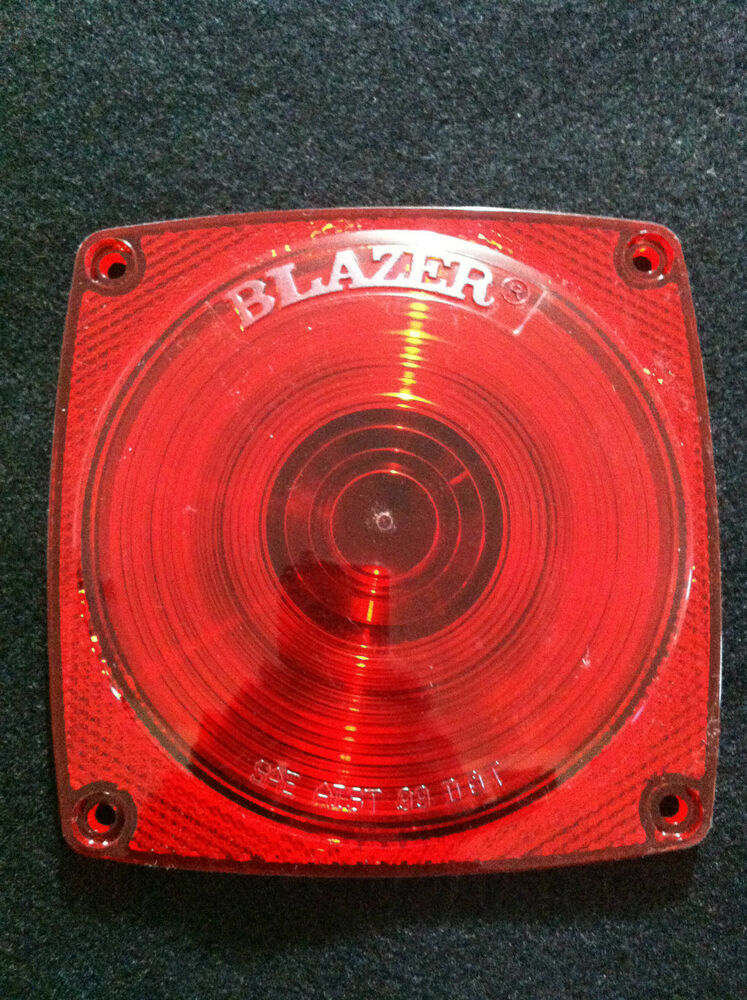 Trailer Tail Light Lens : Blazer quot red lens trailer tail lights stop turn fits