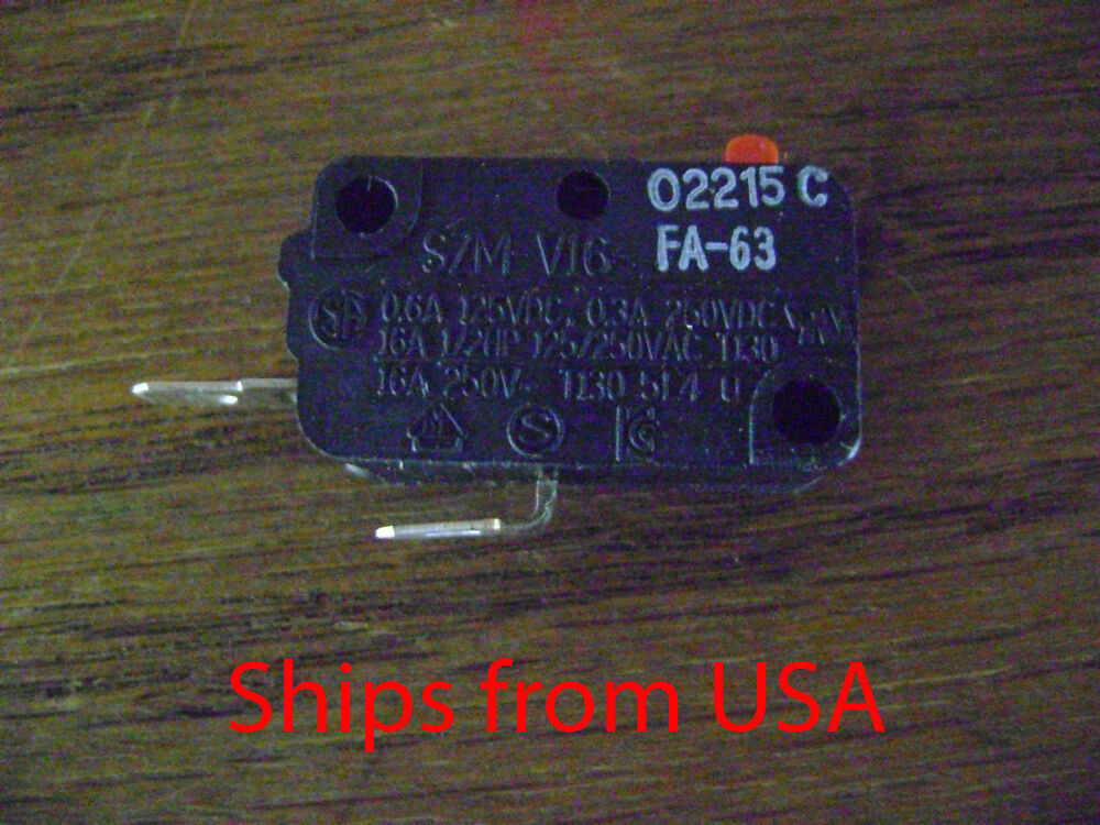 Microwave Oven Szm V16 Fa63 Door Micro Switch Normally