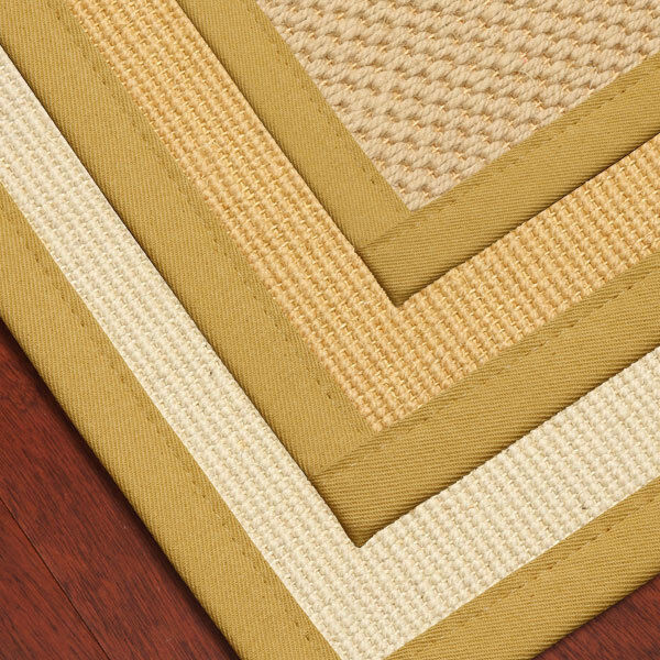 """Sisal Rugs Sydney: Carpet Stair Treads 9""""x29"""" Wool Sisal With Natural Cotton"""