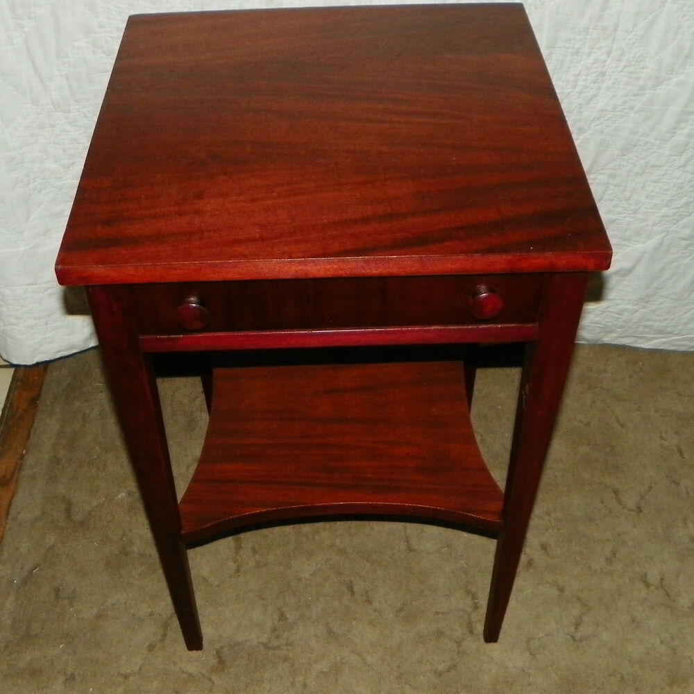 Mahogany side table end table with drawer t155 ebay for End tables with drawers