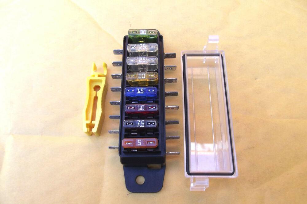 1fuse panel 8 made in usa buss atc fuses and safety cover. Black Bedroom Furniture Sets. Home Design Ideas