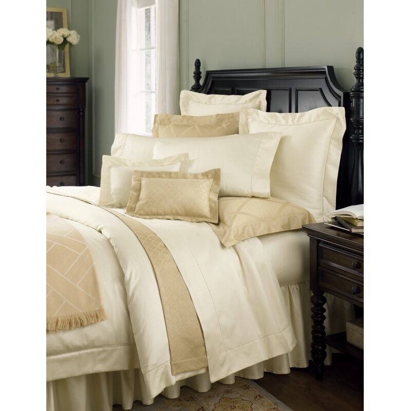 Sferra Giotto F Queen Duvet Cover 610tc Dark Khaki