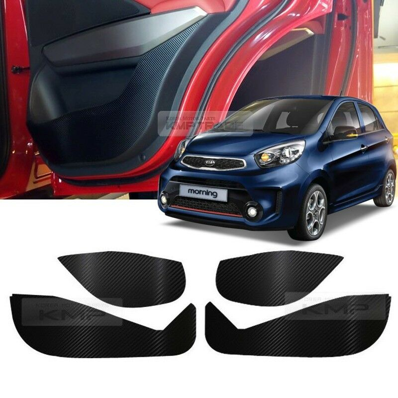 Carbon Door Decal Sticker Cover Kick Protector For KIA ...