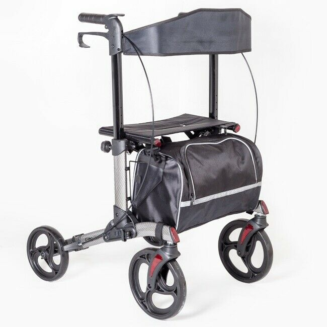 Folding lightweight aluminium 3 wheel tri walker mobility for Mobility walker