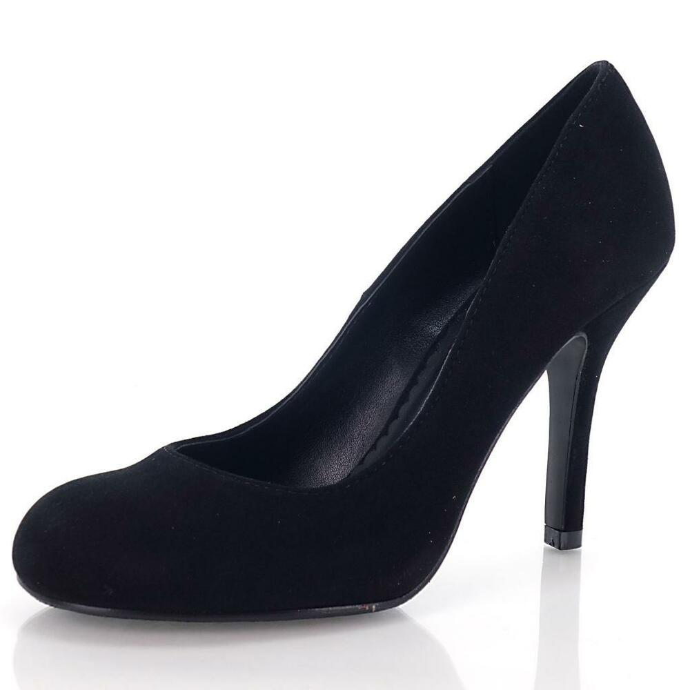 Class Black Lami Round Toe Dress Pump Simple Office