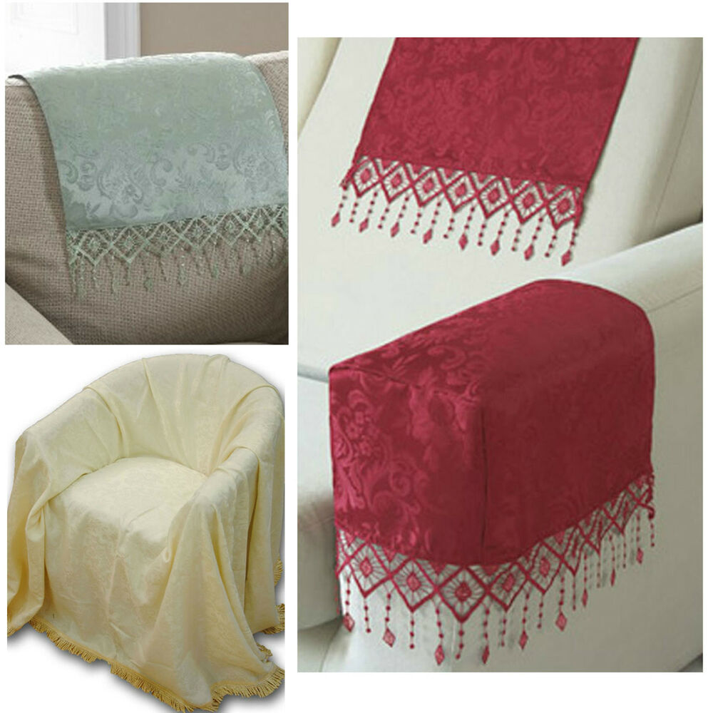 Lana Damask Antimacassars Arm Caps Chair Backs Or Fire