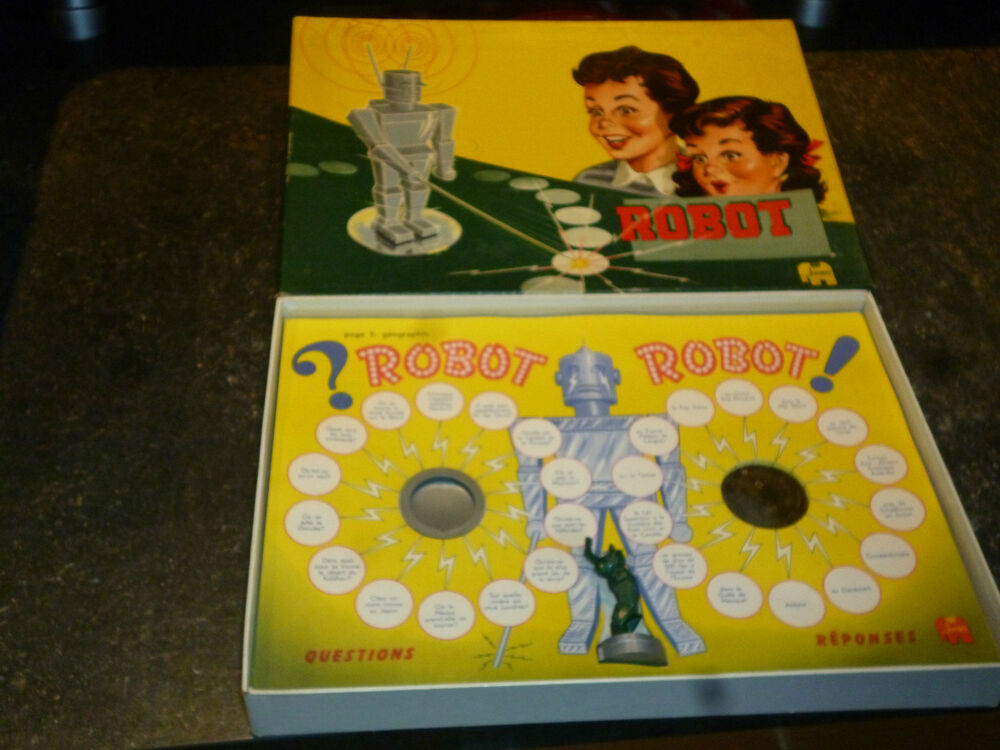 ancien jeu de soci t edit par jumbo questions robot 1950 ebay. Black Bedroom Furniture Sets. Home Design Ideas