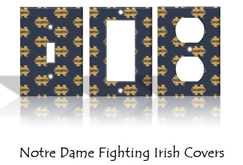 Notre dame fighting irish light switch covers football for Home decor outlet