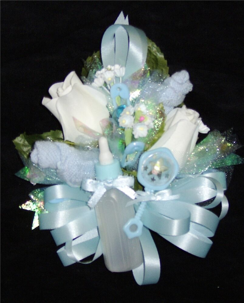 baby shower corsage blue baby socks blue ribbons handmade ebay
