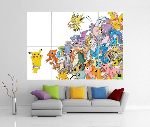 POKEMON PIKACHU GIANT WALL ART PICTURE PRINT PICTURE