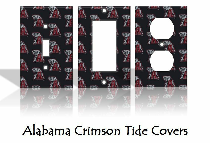 alabama crimson tide light switch covers football ncaa