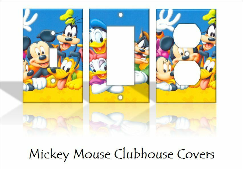 Mickey mouse clubhouse disney light switch covers handmade - Mickey mouse clubhouse bedroom decor ...