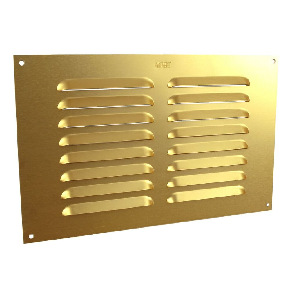 9 x 6 louvre vent brass anodised aluminium metal. Black Bedroom Furniture Sets. Home Design Ideas