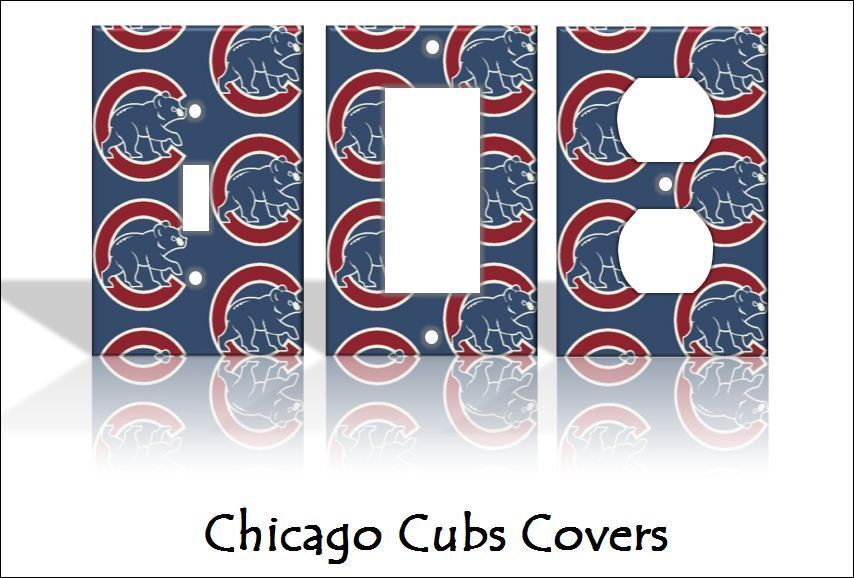 home decorators outlet chicago chicago cubs light switch covers baseball mlb home decor 11505
