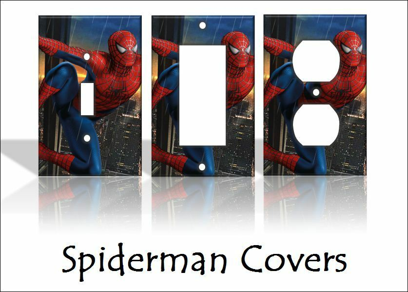 Spiderman light switch covers marvel comics home decor for Home decor outlet 63125