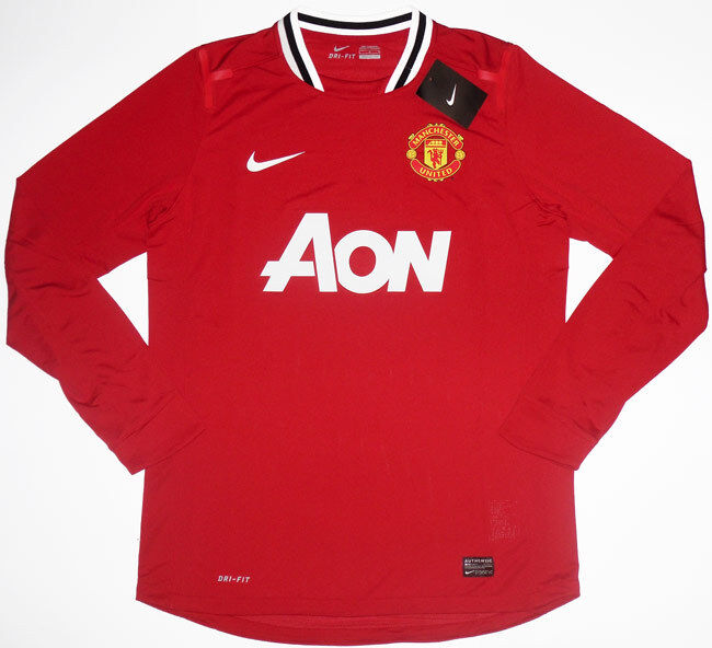 11 12 manchester united player issue football shirt soccer for Manchester united shirt sponsor