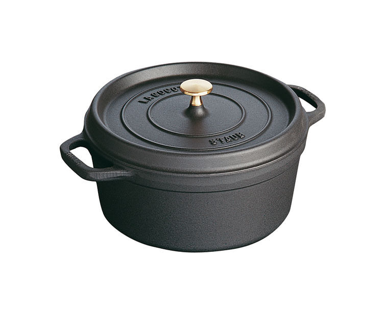 staub cocotte br ter 18 cm schwarz rund kochgeschirr topf kochtopf bratentopf ebay. Black Bedroom Furniture Sets. Home Design Ideas