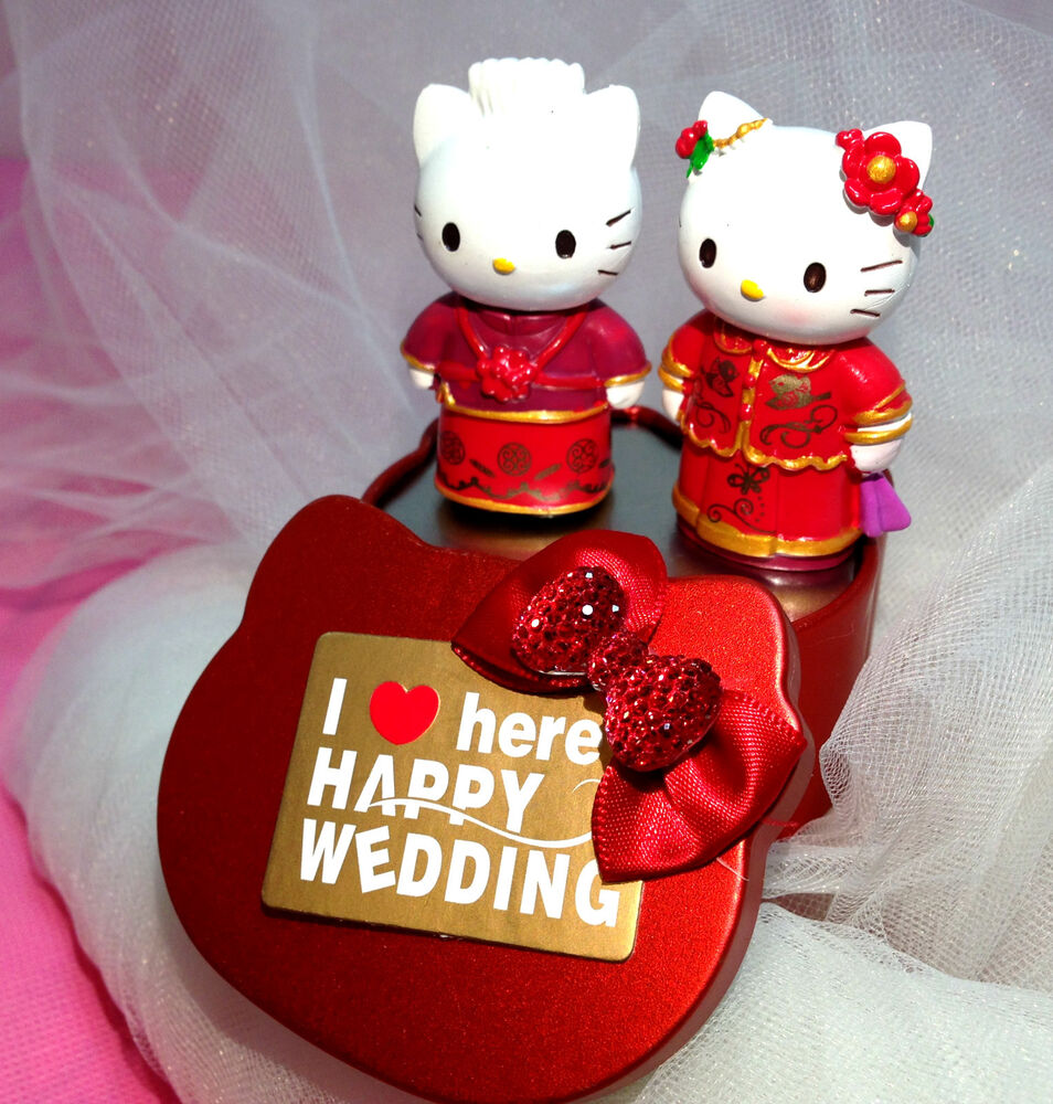Cute Asian Wedding Cake Toppers Hello Kitty And Daniel Chinese Topper Us