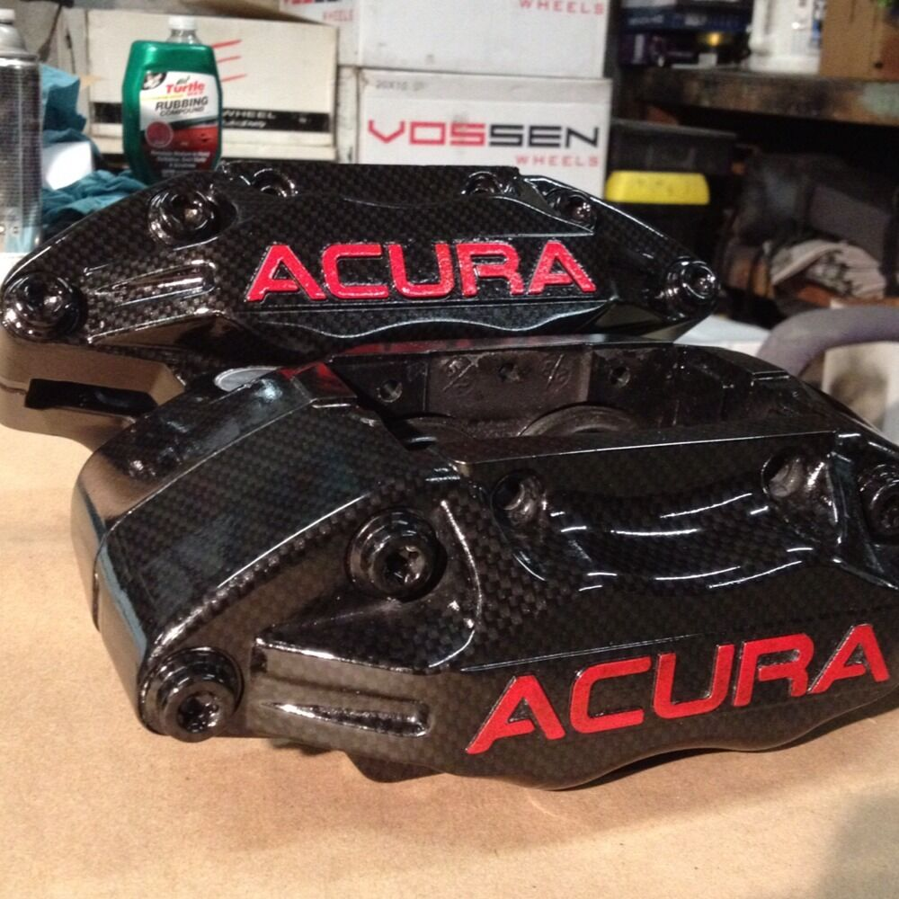 Acura RL Carbon Calipers Front Pair Brake RSX Civic Tsx