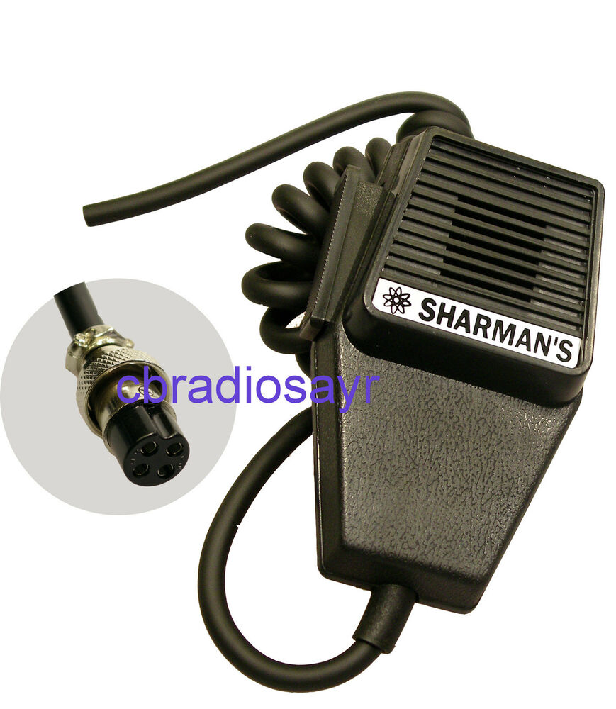replacement cb microphone 4 pin uniden wiring  cobra  tti