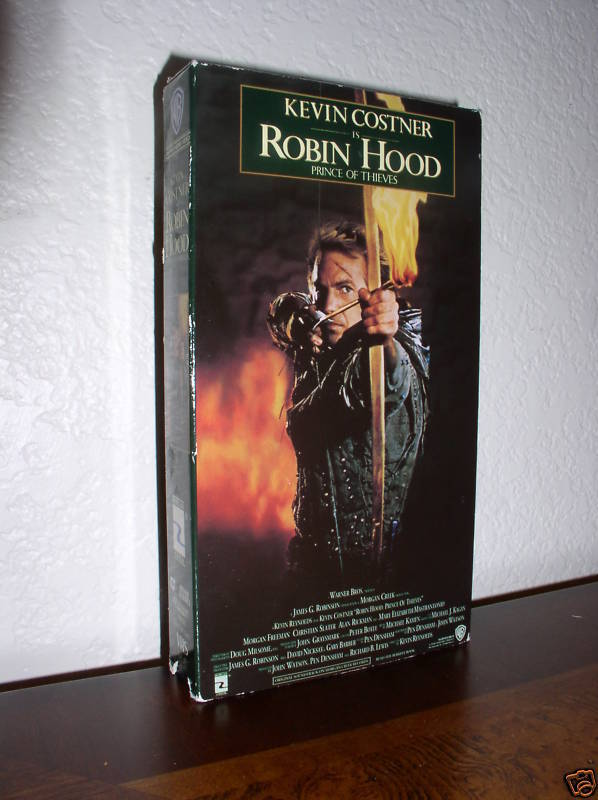 Kevin Costner In Robin Hood Prince Of Thieves Vhs 1991
