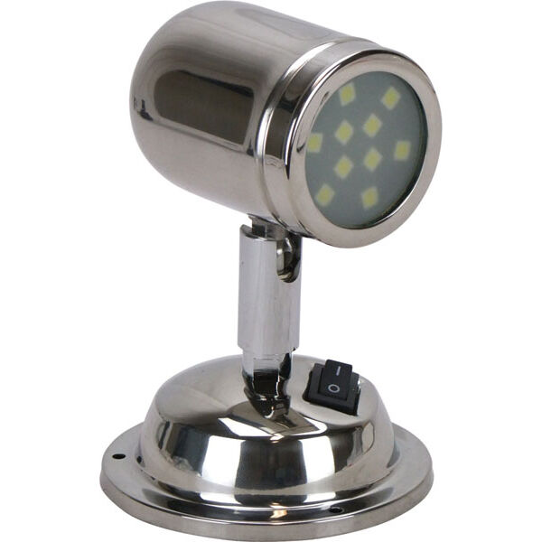 Caravan Interior Wall Lights : LED Interior Reading Swivel bunk Light 12Volt Caravan Boat Polished Stainless eBay