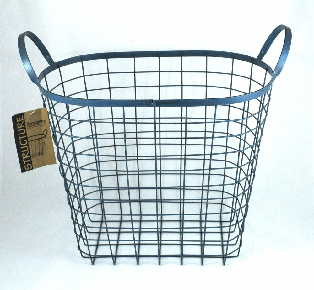 Structure Farmhouse Chic Large Wire Basket Storage Home