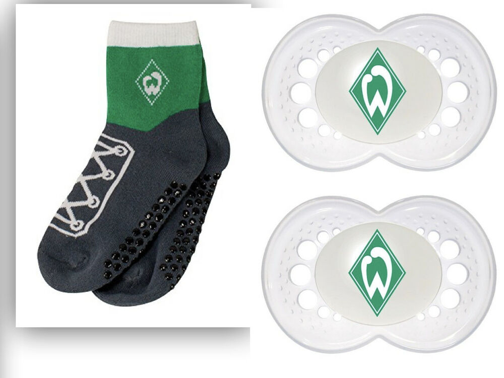 svw werder bremen babyset socken abs babysocken und 2. Black Bedroom Furniture Sets. Home Design Ideas