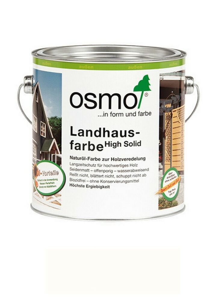 osmo landhausfarbe 2101 wei 2 5 liter gebinde ebay. Black Bedroom Furniture Sets. Home Design Ideas