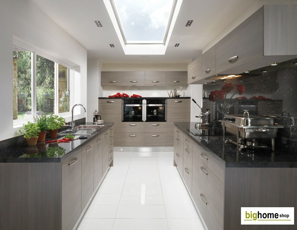Complete fitted kitchens avola grey contemporary kitchen for Fitted kitchen cabinets