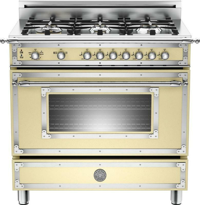 Bertazzoni HER366GASCR 36 Traditional Style Gas Range