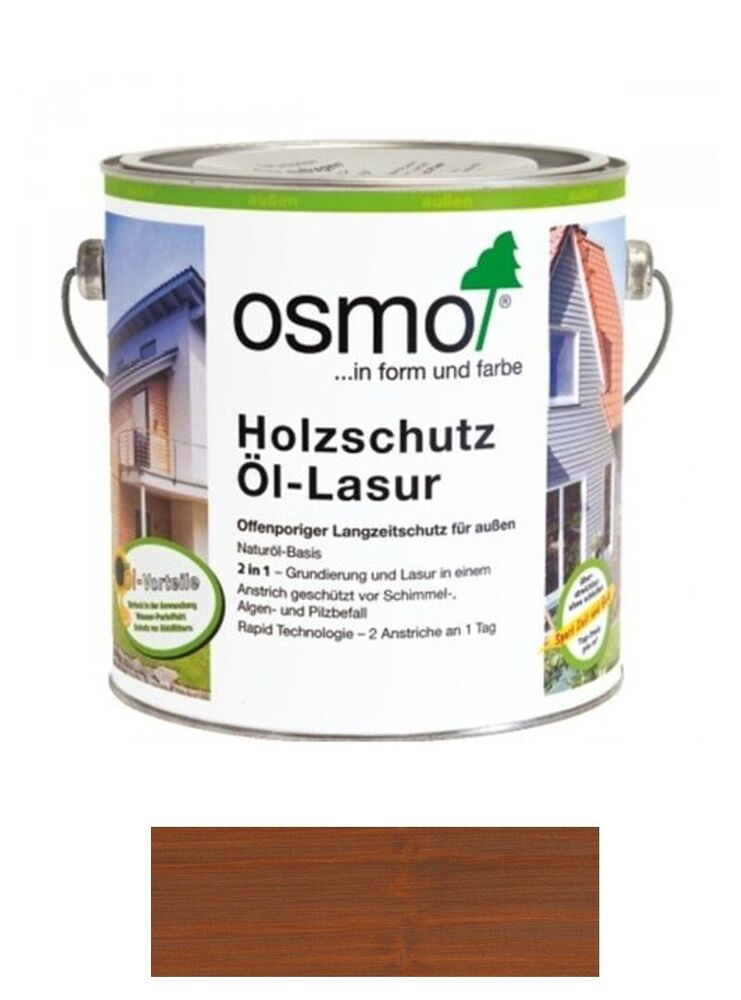 osmo holzschutz l lasur 708 teak 2 5 liter gebinde ebay. Black Bedroom Furniture Sets. Home Design Ideas