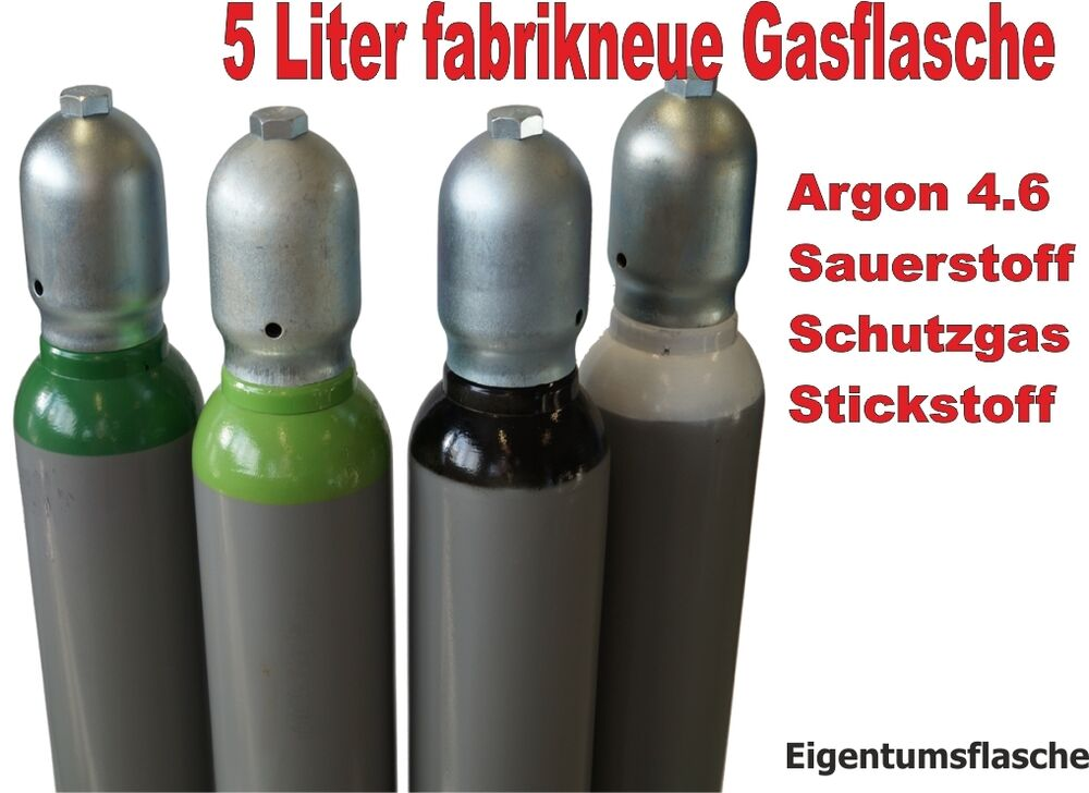 gasflasche 5 liter argon 4 6 sauerstoff schutzgas. Black Bedroom Furniture Sets. Home Design Ideas