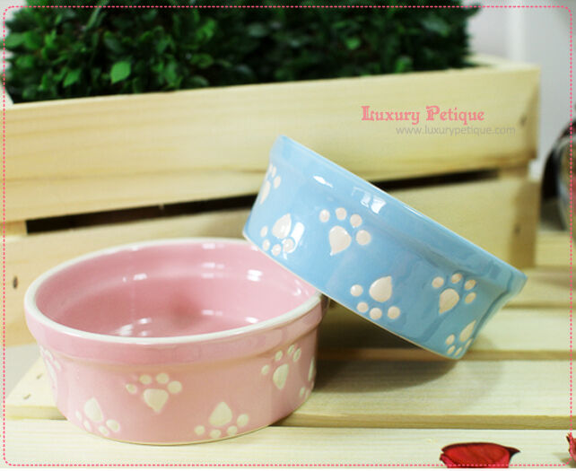 Cute Luxury Pet Food Bowl Feeder Dish For Dogs Amp Cats Pink