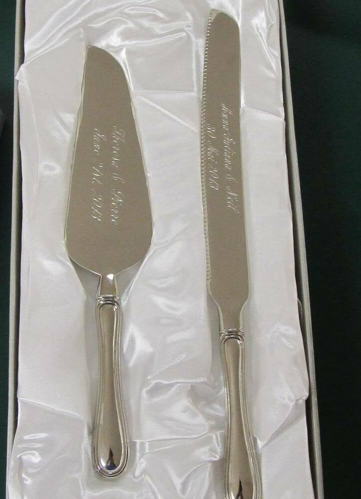 rustic wedding cake knife set uk personalized wedding cake serving set stainless steel free 19542
