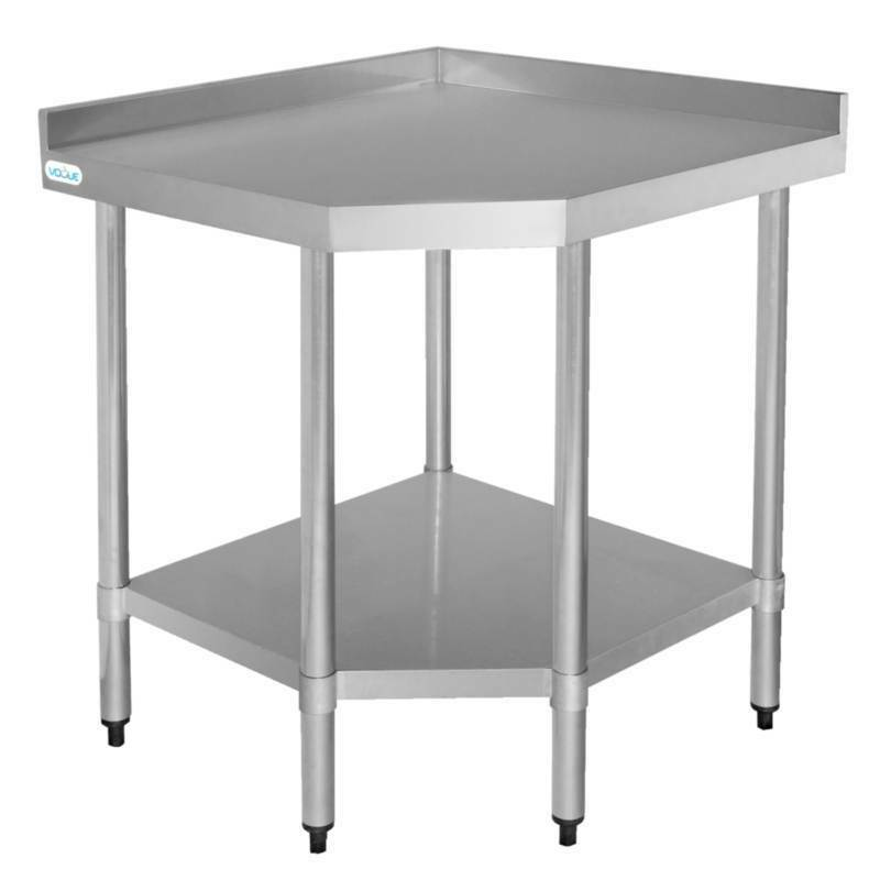Stainless Steel Kitchen Work Table: Vogue Corner Unit Table Stainless Steel Kitchen Work