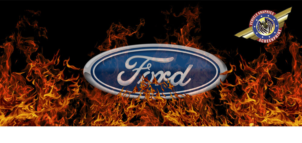 Ford Quot Truck Rear Window Graphic Quot Free Add Text Ebay