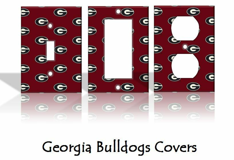 Georgia bulldogs light switch covers football ncaa home for International decor outlet georgia