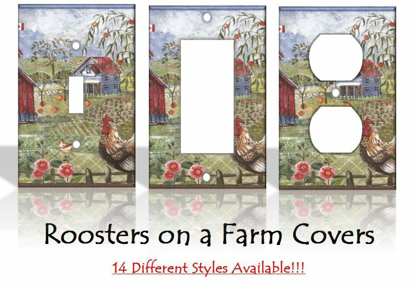 Roosters kitchen light switch covers home decor outlet ebay for Home decor outlet 63125