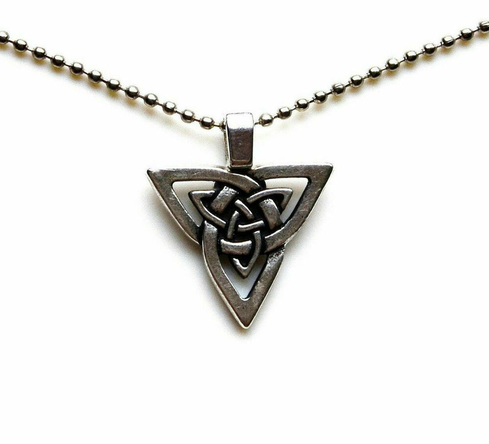 Celtic Triangle Pendant with Adjustable Chain