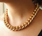 """Shiny LIGHT GOLD Plated Chunky Aluminium Curb Chain Necklace 18"""" 38"""" USA Seller"""