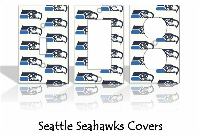 Seattle seahawks light switch covers football nfl home