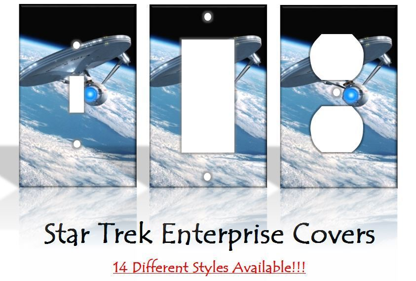 Star trek enterprise sci fi light switch covers home decor for Sci fi home decor