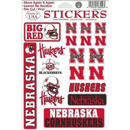 Nebraska Cornhuskers Vinyl Die Cut Stickers Decals Ebay