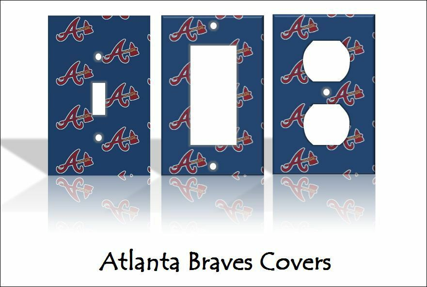 home decor outlet atlanta ga atlanta braves light switch covers baseball mlb home decor 12346