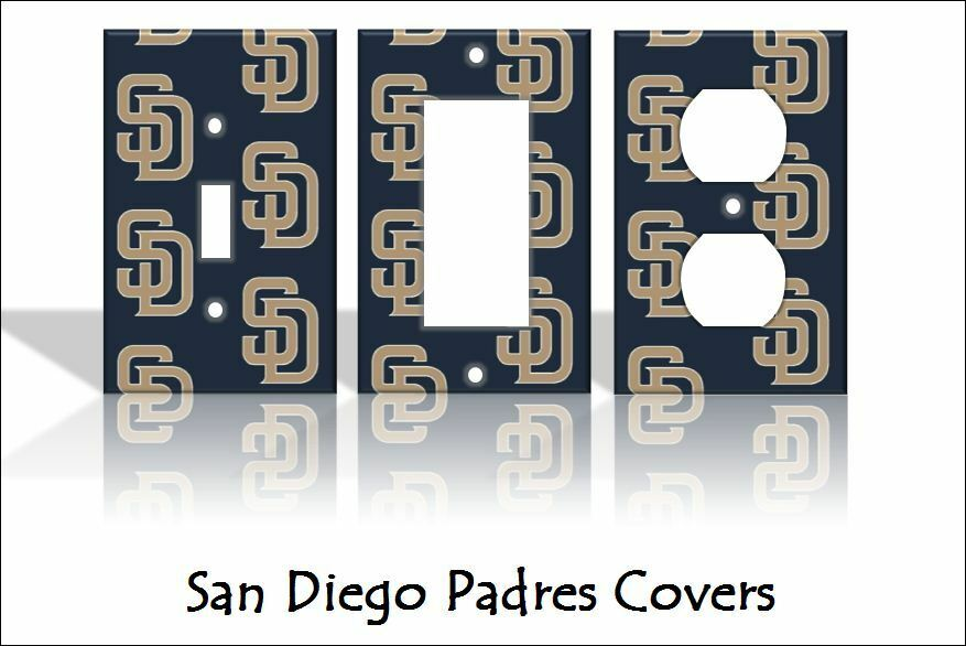San Diego Padres Light Switch Covers Baseball Mlb Home