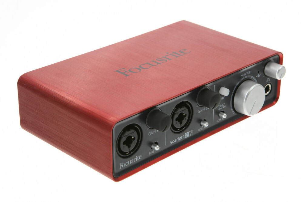 focusrite scarlett 2i2 usb 2 0 audio interface home recording 2 in 2 out ebay. Black Bedroom Furniture Sets. Home Design Ideas
